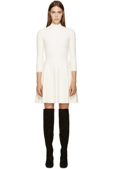 Alexander McQueen - White Lace A-Line Dress