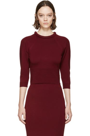 Alexander McQueen - Burgundy Padded Neckline Sweater