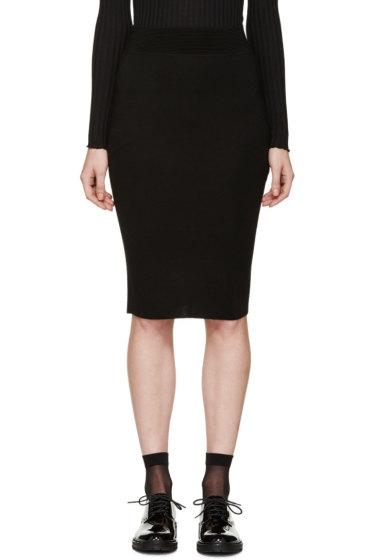 Alexander McQueen - Black Knit Pencil Skirt