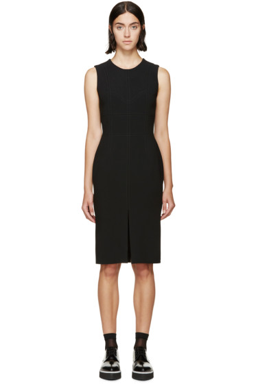 Alexander McQueen - Black Wool Paneled Dress