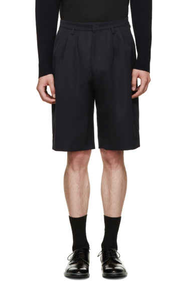 Paul Smith - Blue Twill Tailored Shorts