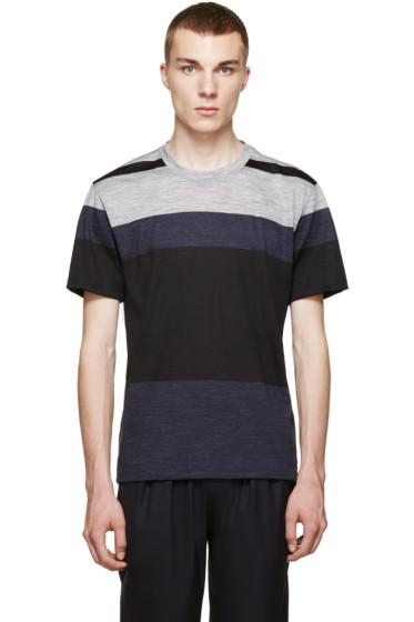 Paul Smith - Navy & Grey Colorblock T-Shirt