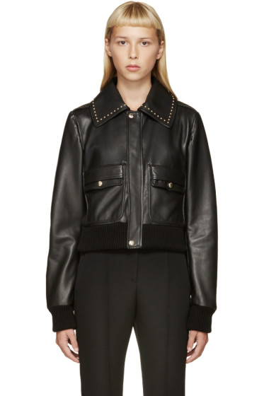 Givenchy - Black Studded Leather Jacket