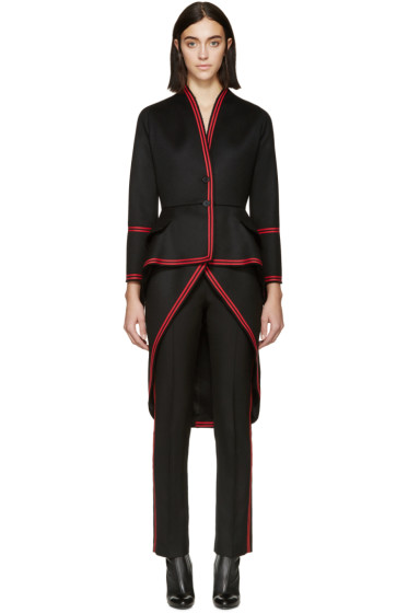 Givenchy - Black & Red Military Coat