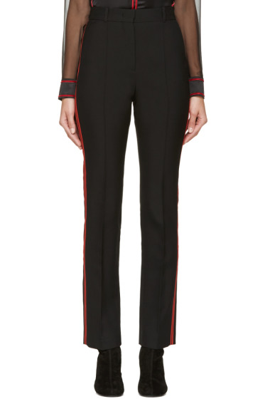 Givenchy - Black & Red Wool Striped Trousers