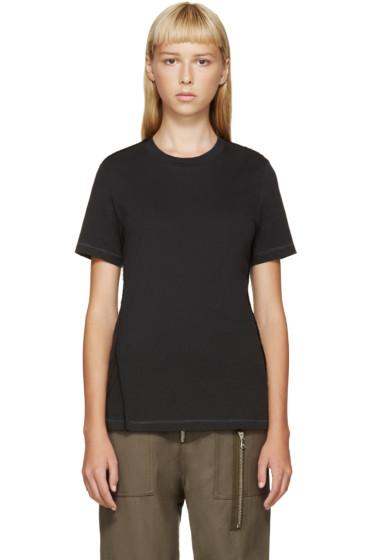 3.1 Phillip Lim - Black Mohair Trim Shrunken T-Shirt