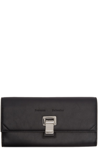 Proenza Schouler - Black Leather Courier Continental Wallet