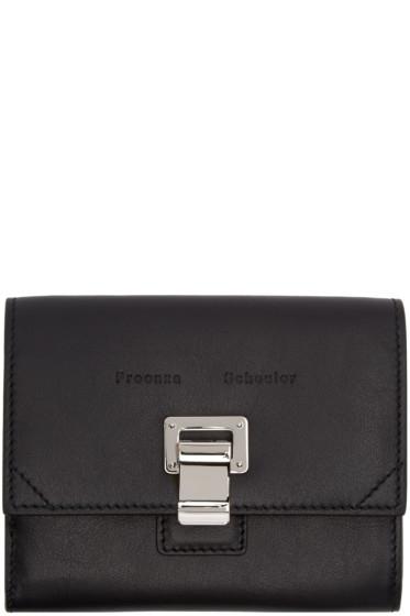 Proenza Schouler - Black Leather Courier Wallet