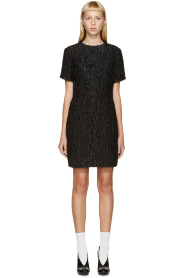 Carven - Black Waffled Jacquard Dress