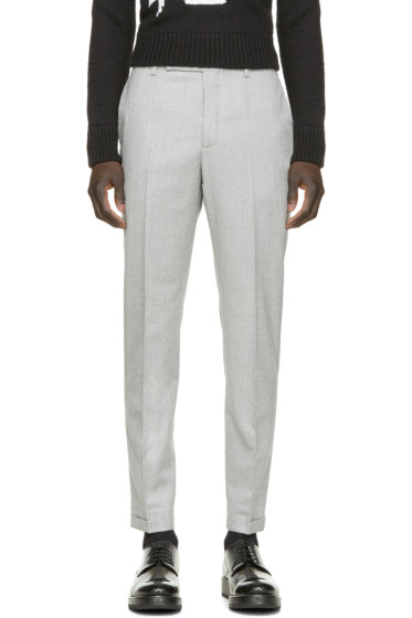 Carven - Grey Wool Ample Trousers