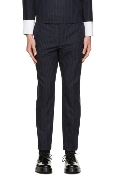 Carven - Blue Chalk Stripe Trousers