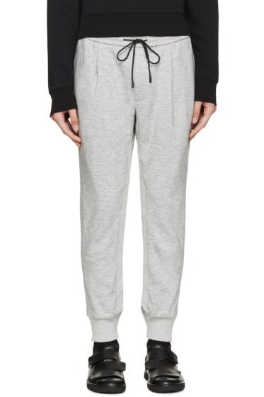 Juun.J - Grey Cropped Jersey Lounge Pants