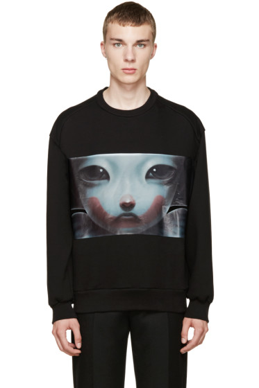 Juun.J - Black Graphic Sweatshirt