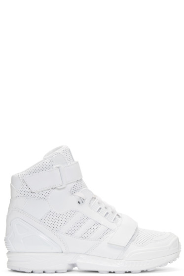 Juun.J - White Leather High-Top adidas by Juun.J Sneakers