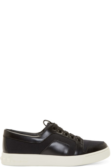 Pierre Balmain - Black Paneled Low-Top Sneakers