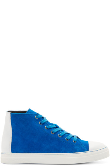 Pierre Hardy - Cobalt Blue Suede Frisco Sneakers