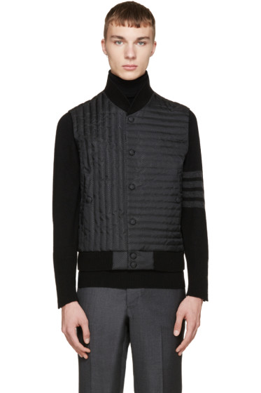 Thom Browne - Black Quilted Fun Mix Vest