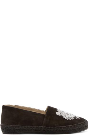 Kenzo - Black Suede Tiger Espadrilles