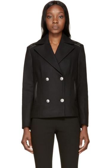Versus - Black Wool Greek Key Jacket