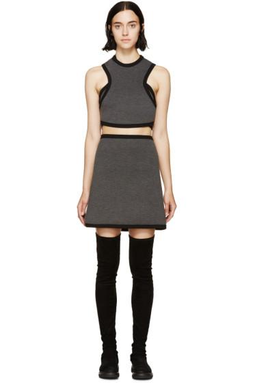 Denis Gagnon - Grey Mélange Air Marni Cutout Dress