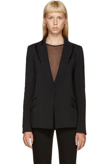 Dion Lee - Black Puncture Blazer