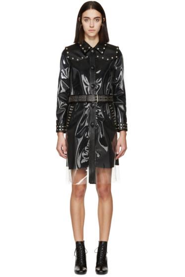 Saint Laurent - Transparent & Black Rain Coat