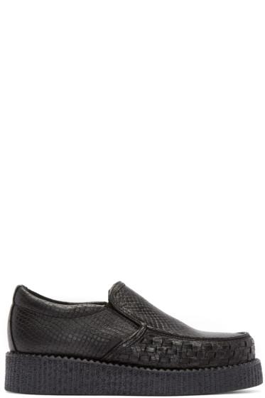 Underground - Black Snakeskin Creeper Loafers
