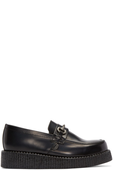 Underground - Black Creeper Penny Loafers