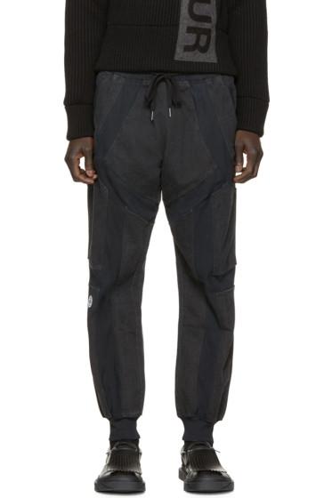 KTZ - Black & Grey Cut-Out Lounge Pants