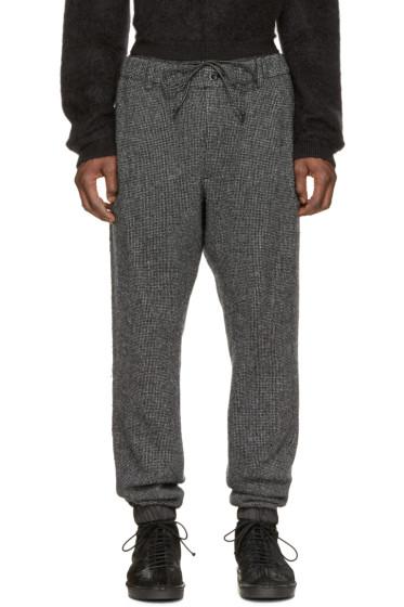 Sacai - Black & White Wool Lounge Pants