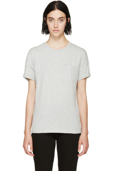 Frame Denim - Heather Grey Le Boyfriend T-Shirt