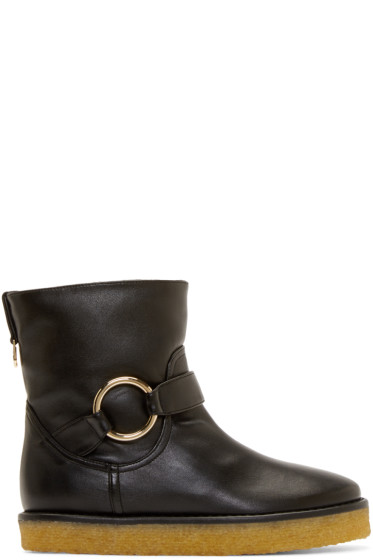 Stella McCartney - Black Crepe Rubber Ankle Boots
