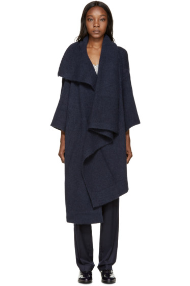 Stella McCartney - Navy Mohair Cape