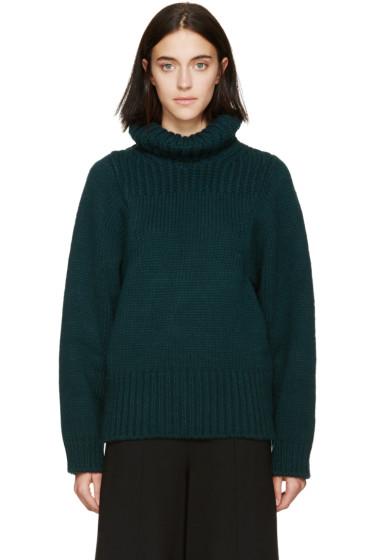 Stella McCartney - Green Knit Turtleneck