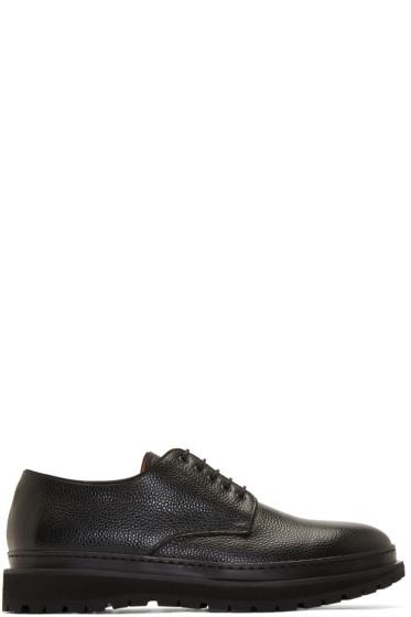 Umit Benan - Black Stamped Leather Dollar Bolero Shoes