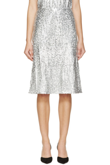 Nina Ricci - Silver Sequined Skirt