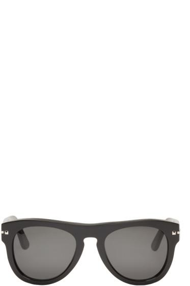 Valentino - Black Round Rockstud Sunglasses