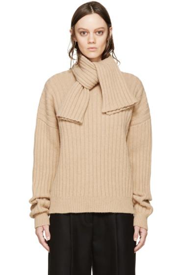 J.W.Anderson - Beige Knit Scarf Sweater