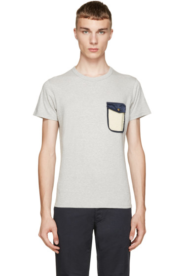 Visvim - Grey Snap Pocket T-Shirt