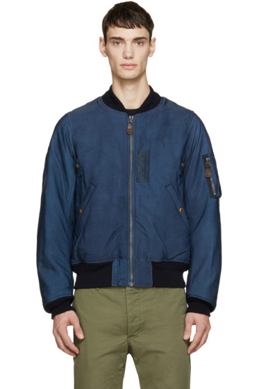 Visvim - Navy Thorson Bomber Jacket