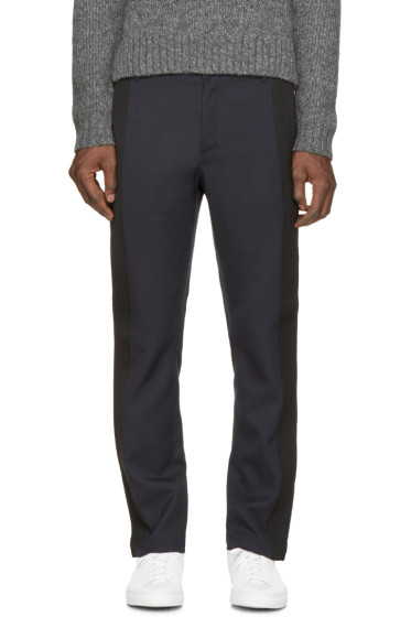 Costume National - Navy & Black Trousers