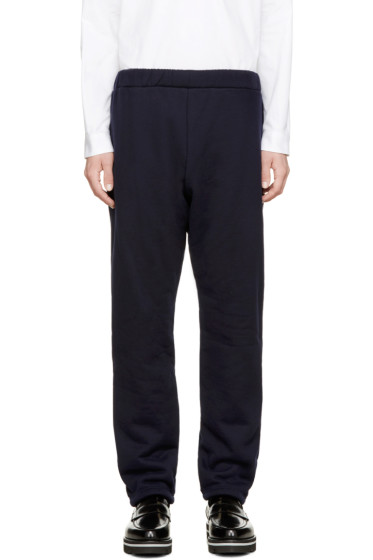 08Sircus - Navy Knit Boa Pants