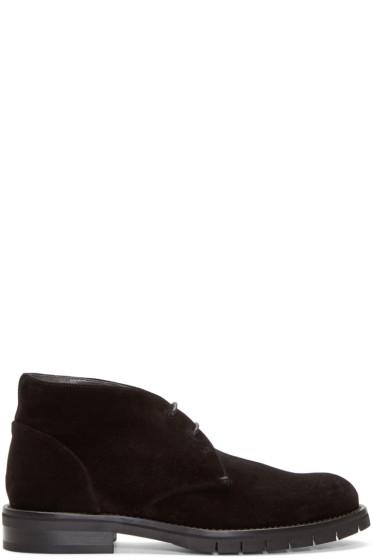 Robert Clergerie - Black Suede Bertrand Desert Boots