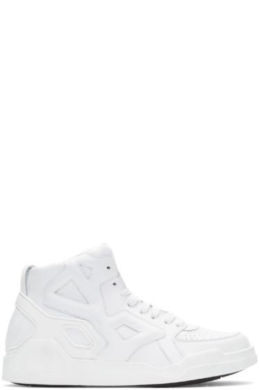 Marcelo Burlon County of Milan - White High-Top Block Sneakers