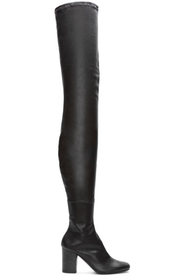 Haider Ackermann - Black Leather Over-the-Knee Boots