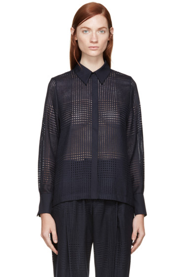 Mother of Pearl - Navy Meredith Blouse