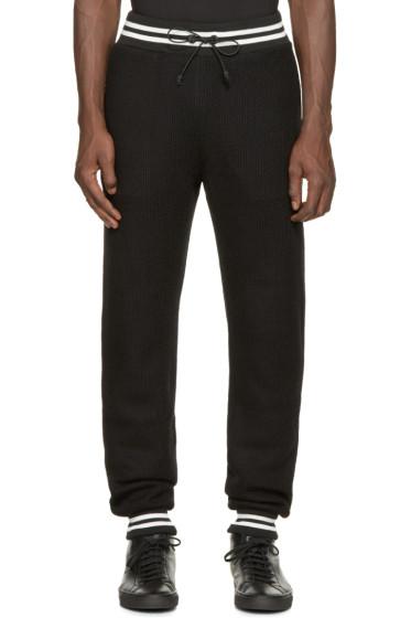 Giuliano Fujiwara - Black Knit Jogging Pants