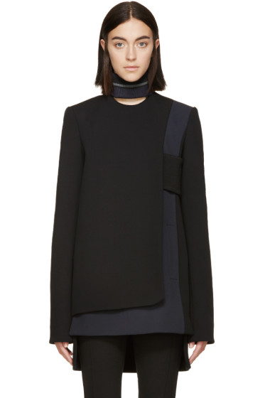 Paco Rabanne - Black & Grey Wool Panel Tunic