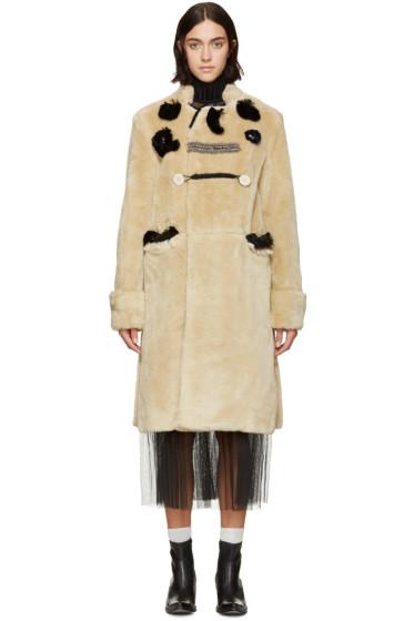 Toga - Beige Patchwork Bear Coat