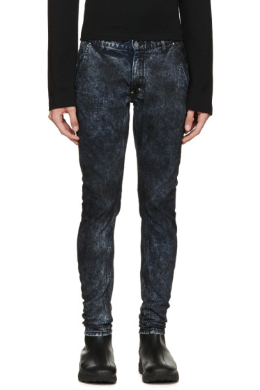 Diet Butcher Slim Skin - Blue & Black Mottled Jeans